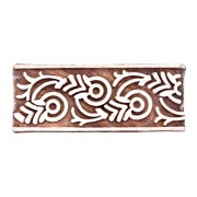 Hand Carved Wooden Fabric Printing Blocks Indian Textile Stamps Rectangular Fabric, Paper and Mehndi Stamp By Handicraft-Palace