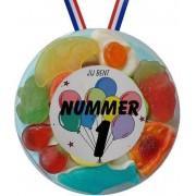 Snoep Medaille Jij bent nummer 1 - 5 stuks