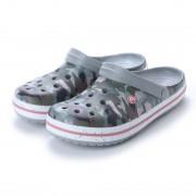 【SALE 50%OFF】クロックス crocs クロッグサンダル Crocband Graphic III Clog 205330-97A (グレー) ミフト mift レディース