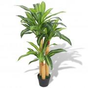vidaXL Plantă Dracena artificială cu ghiveci, 100 cm, verde