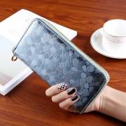 Nagyméretű divatos női pénztárca - Méret 19 x 9 cm - VILÁGOSKÉK