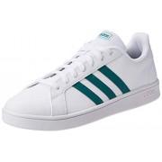 Adidas Tenis Grand Court Base EE7905 para Hombre, Color Blanco/Franjas Verdes, Talla 8 Mex
