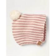 Mini Vintage-Rosa/Naturweiß Strickhäubchen Baby Baby Boden, 80, Pink