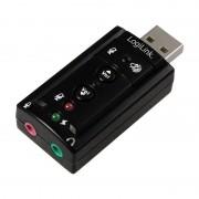 LogiLink USB 2.0 Audioadapter, 7.1 Soundeffekt