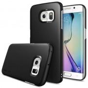Husa Protectie Spate Ringke Slim SF Black plus folie protectie pentru Samsung Galaxy S6 Edge