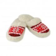 Papuci de casă călduroși din lână - Femei