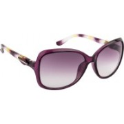 Farenheit Over-sized Sunglasses(Violet)