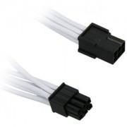 Cablu prelungitor BitFenix Alchemy 6-pini PCIe, 45cm, white/black, BFA-MSC-6PEG45WK-RP