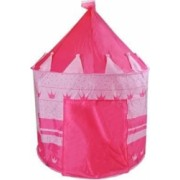 Cort De Joaca Tip Castel Pentru Copii culoare roz