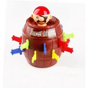 Emob Thrilling Pop Up Pirate Barrel Toy Try Your Luck Game (Multicolor)