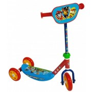 Trotineta pentru copii cu 3 roti Saica Paw Patrol cu roti din silicon albastru cu rosu