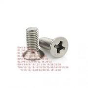 Fly-Town M1 m1.2 m1.4 m1.6 m2 m2.5 m3 m4 m5 acero inoxidable 304 cabeza avellanada plana micro tornillo de máquina, Manual, m4 20pcs,4mm, Igual a la foto