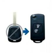 Carcasa cheie briceag Peugeot, 2 butoane (transformare)