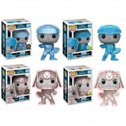 Funko Pop Set 4 Tron Disney Brilla En Oscuridad Glow Y Chase