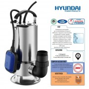 Pompa sommersa/ad immersione acque sporche/dirty water 750W Hyundai - 35614