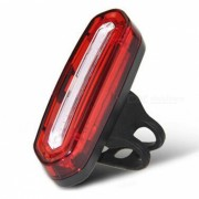 100LM USB recargable COB LED Mountain Bike MTB Safety Tail Light - Luz roja
