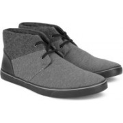 Clarks Gosling Mid Grey Combi Sneakers For Men(Grey)