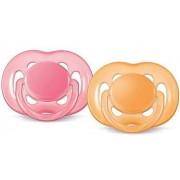 Philips Avent Napp Orange/Rosa 0-6 månader - Freeflow 2-pack