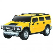 Magicwand 1:24 Scale Remote Controlled H2 Hummer with Adjustable Front Wheel Alignment (Yellow)