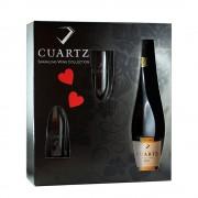 Crama Girboiu - Cuartz vin spumant alb + 2 pahare