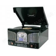 INOVALLEY Chaîne stéréo encodage MP3 RETRO-03N Noir