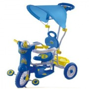 Oh Baby Baby Helicopter Bike Musical With Tubeless Tyre 2 In 1 Function BLUE Color Tricycle For Your Kids SE-TC-130