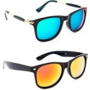 layd Wayfarer Sunglasses(Blue, Yellow)