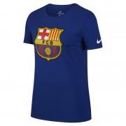 FC Barcelona Crest Damen-T-Shirt - Blau