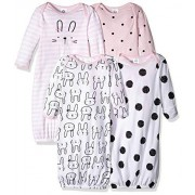 Gerber Traje de bebé para niña, 4 Unidades, Bunny, 0-6 Meses