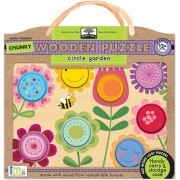 Innovative Kids Green Start Chunky Wooden Puzzles: Circle Garden Puzzle