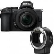 Nikon Z50 body zwart + 16-50mm F/3.5-6.3 VR + FTZ adapter