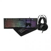 Gamingkit 4-i-1, RGB-tangentbord, RGB-mus, RGB-headset, musmatta