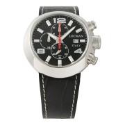 【68%OFF】ラウンドウォッチ クロノグラフ デイト表示 取替ベルト付 ケース:ブラック ベルト:ブラック、ブラウン ファッション > 腕時計~~メンズ 腕時計