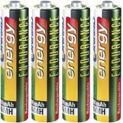 Set 4 acumulatori NiMH, AAA, 1,2 V, 1000 mAh, Conrad energy Endurance