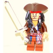 Lego Captain Jack Sparrow with Tricorne Pirates of the Caribbean Chrome Sword
