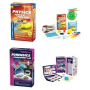 Thames & Kosmos Forensic Fingerprint Lab and Physics Force Pressure Science Experiment Kits with Coloring Book