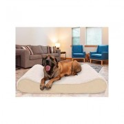 FurHaven Ultra Plush Luxe Lounger Cooling Gel Dog Bed w/Removable Cover, Cream, Jumbo Plus