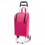 Cărucior frigorific de cumpărături Lola, cu rotile, roz