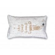 Tinne+Mia Golden hand sierkussen 30 x 50 Zwart-wit goud
