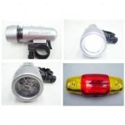 Set lanterna 5 LED si semnalizator pentru bicicleta Safeguard