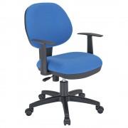 ニューアミューズ1000 W565×D610×H810-890mm 肘付き ブルー デスクチェア OAチェア 事務椅子 オフィス家具