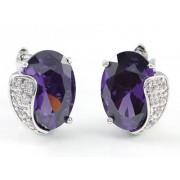 Venus Swarovski kristályos fülbevaló - Lila