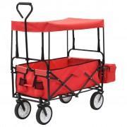 Sonata Сгъваема ръчна количка с покривало, стомана, червена
