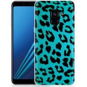 Samsung Galaxy A8 Plus 2018 Hoesje Luipaard Groen Zwart