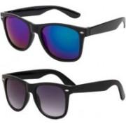 Ivonne Retro Square Sunglasses(Blue, Black)