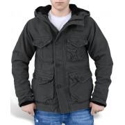 giacca uomo invernale SURPLUS - Supremo Vintage Hydro - Nero - 20-2402-63