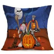 Halloween Decoration Pattern Car Sofa Pillowcase with Decorative Head Restraints Home Sofa Pillowcase N Size:43*43cm -HC3203N