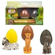 Animal Planet Grow Eggs- Safari- Hatch and Grow Three Different Super-sized Animals (Series 1)