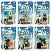 Jedi Masters 6 Figure Pack * Build Your Armies * Star Wars 2002 Action Figure Set (OBI-Wan Kenobi, Qui-Gon Jinn, Mace Windu, Ki-Adi-Mundi, Nikto & Saesee Tiin) by Army Builder