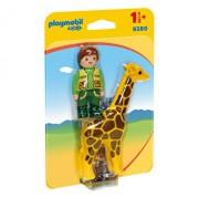 Playmobil 1.2.3, Ingrijitor Zoo cu girafa